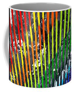 Black Rainbow Coffee Mug