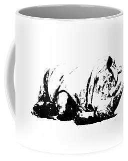 Coffee Mug featuring the ceramic art Black Rhino by Elizabeth Lock