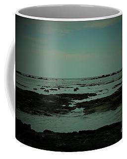 Black Rock Beach Coffee Mug by Mini Arora