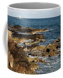 Black Rock Point And Sailboat Coffee Mug