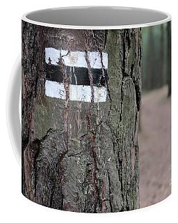 Black Route Coffee Mug by Dariusz Gudowicz