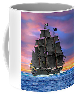 Black Sails Of The Caribbean Coffee Mug by Glenn Holbrook