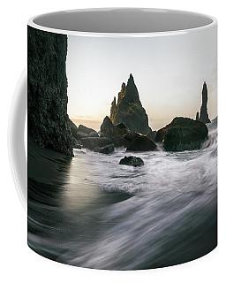 Black Sand Beach In Iceland Coffee Mug