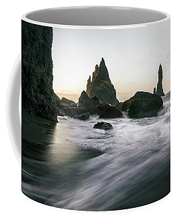 Black Sand Beach In Iceland Coffee Mug
