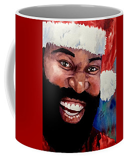Coffee Mug featuring the painting Black Santa by Michal Madison