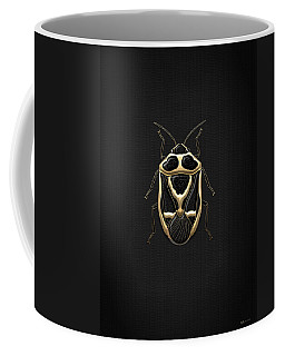 Black Shieldbug With Gold Accents  Coffee Mug