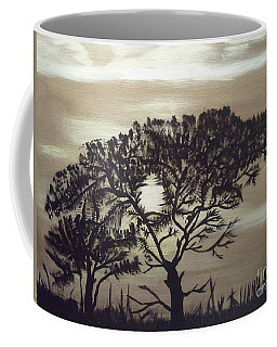 Black Silhouette Tree Coffee Mug
