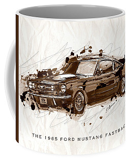 Black Stallion 1965 Ford Mustang Fastback #2 Coffee Mug
