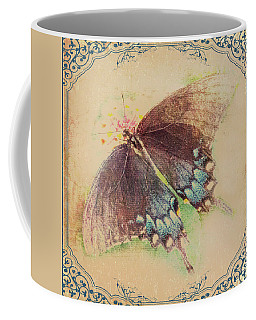 Black Swallowtail Butterfly Framed  Coffee Mug