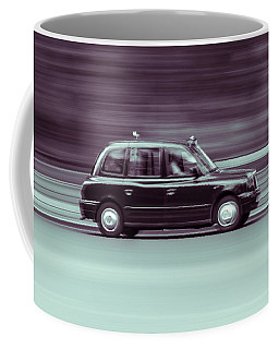 Black Taxi Bw Blur Coffee Mug
