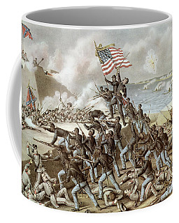 Black Troops Of The Fifty Fourth Massachusetts Regiment During The Assault Of Fort Wagner Coffee Mug