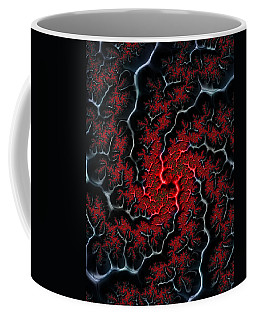 Black Veins Red Blood Abstract Fractal Art Coffee Mug