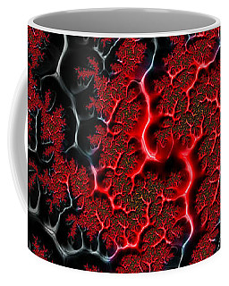 Black Veins Red Blood Abstract Fractal Art Coffee Mug