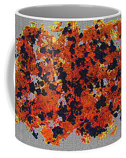 Black Walnut Ink Abstract With Splats Coffee Mug