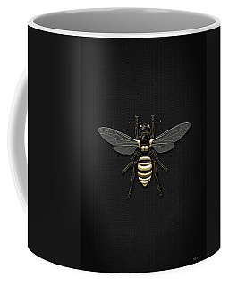 Black Wasp With Gold Accents On Black  Coffee Mug