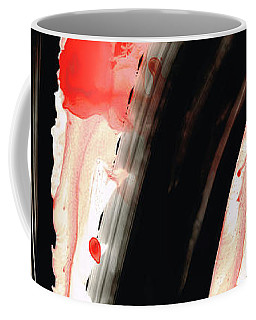 Coffee Mug featuring the painting Black White Red Art - Tango 2 - Sharon Cummings by Sharon Cummings