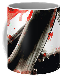 Coffee Mug featuring the painting Black White Red Art - Tango - Sharon Cummings by Sharon Cummings