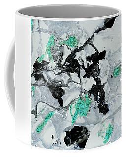 Black, White, Turquoise And Silver Coffee Mug