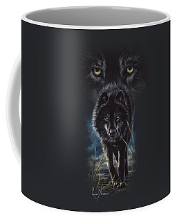 Black Wolf Hunting Coffee Mug