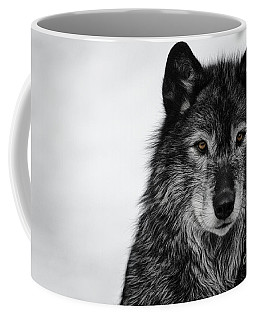 Black Wolf I Coffee Mug