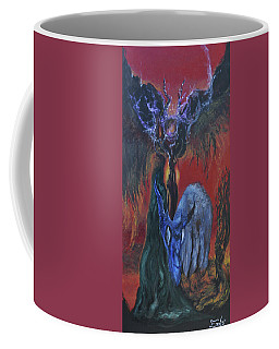 Coffee Mug featuring the painting Blackberry Thorn Psychosis by Christophe Ennis