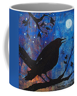Blackbird Singing Coffee Mug by Robin Maria Pedrero