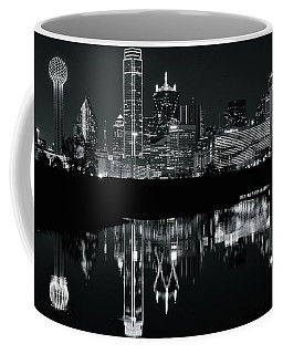 Blackest Night In Big D Coffee Mug by Frozen in Time Fine Art Photography
