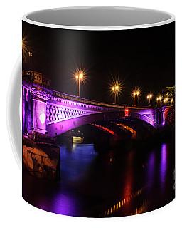 Blackfriars Bridge Illuminated In Purple Coffee Mug