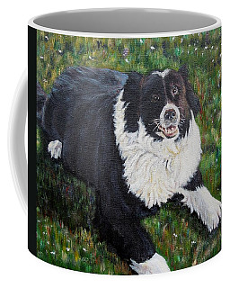 Coffee Mug featuring the painting Blackie by Marilyn  McNish
