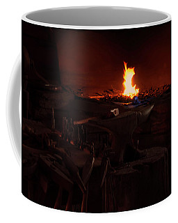 Coffee Mug featuring the digital art Blacksmith Shop by Chris Flees