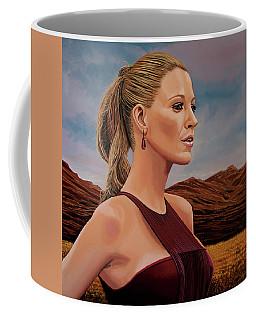 Blake Lively Painting Coffee Mug by Paul Meijering