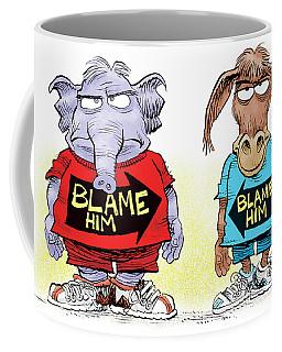 Blame Him Coffee Mug