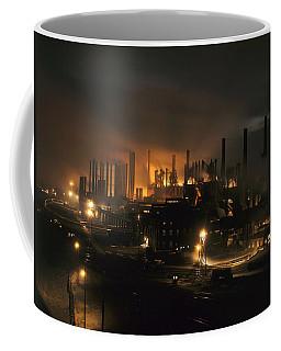 Blast Furnaces Of A Steel Mill Light Coffee Mug
