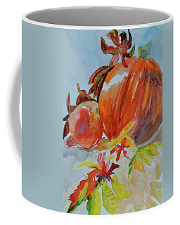 Coffee Mug featuring the painting Blazing Autumn by Beverley Harper Tinsley