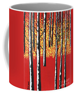Blazing Birches Coffee Mug
