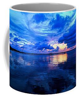 Blazing Blue Sunset Coffee Mug