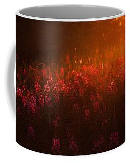 Blazing Fireweed At Sunset Coffee Mug by Marty Saccone