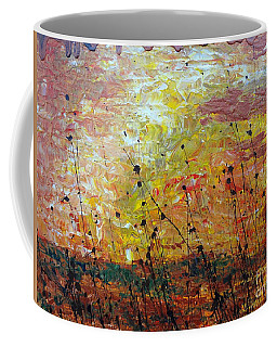 Coffee Mug featuring the painting Blazing Prairie by Jacqueline Athmann