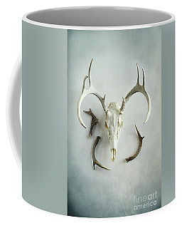 Bleached Stag Skull Coffee Mug by Stephanie Frey