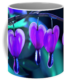 Bleeding Hearts In Moon Light Coffee Mug by Skip Tribby