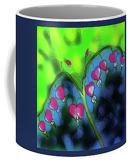 Bleeding Hearts Coffee Mug by Latha Gokuldas Panicker