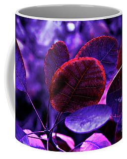 Bleeding Violet Smoke Bush Leaves - Pantone Violet Ec Coffee Mug