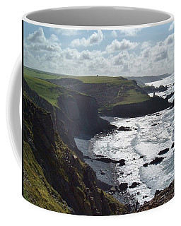Blegberry Cliffs From Damehole Point Coffee Mug by Richard Brookes