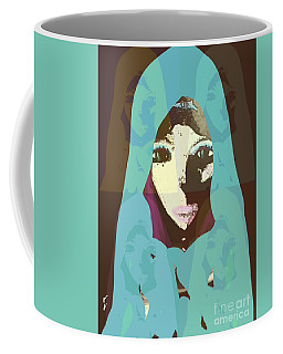 Coffee Mug featuring the mixed media Blessed 2 by Ann Calvo