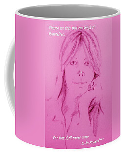 Coffee Mug featuring the drawing Blessed Are They by Denise Fulmer