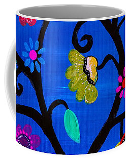 Coffee Mug featuring the painting Blessed Tree Of Life by Pristine Cartera Turkus