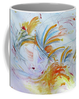 Coffee Mug featuring the painting Blithe Sirit by Rosanne Licciardi