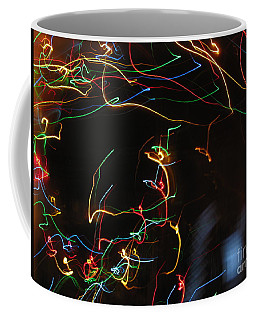 Coffee Mug featuring the photograph Blizzard Of Colorful Lights. Dancing Lights Series by Ausra Huntington nee Paulauskaite