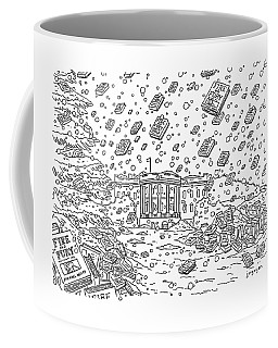 Blizzard Of Fire And Fury Coffee Mug