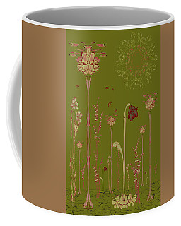 Blob Flower Garden Full View Coffee Mug